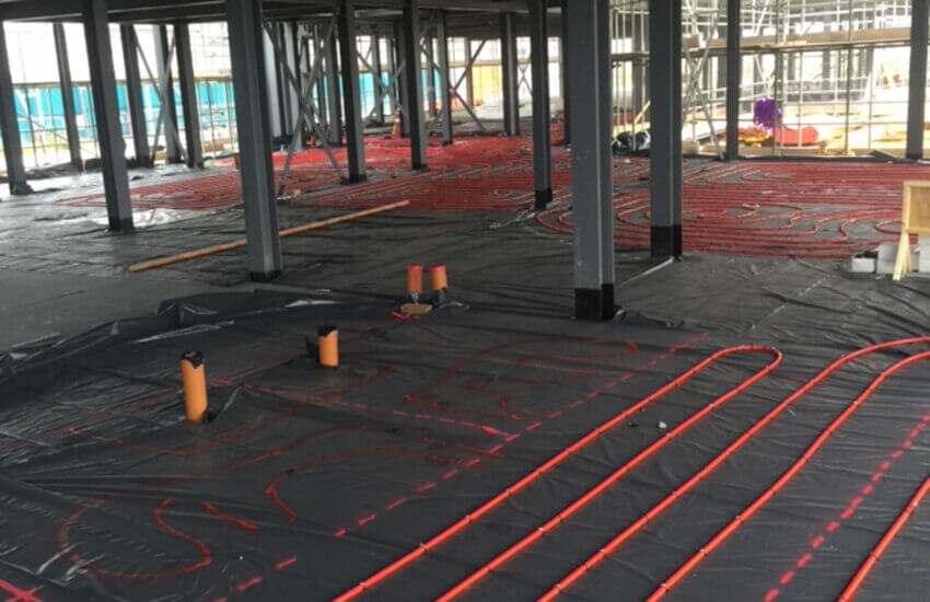 Underfoor heating and screed project in London